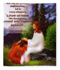 Scripture Art   Native Prayer Fleece Blanket