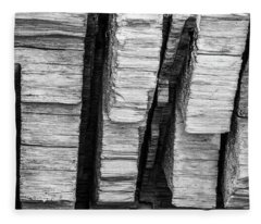 Sculpted Log Fleece Blanket