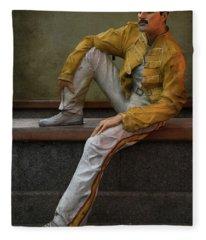 Sculptures Of Sankt Petersburg - Freddie Mercury Fleece Blanket