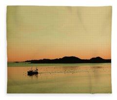 Sea After Sunset Fleece Blanket