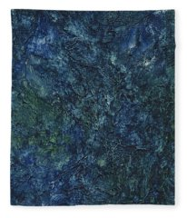Sea Blue, Sea Green Fleece Blanket