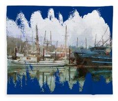 Sea Breeze And Lady Law Fleece Blanket