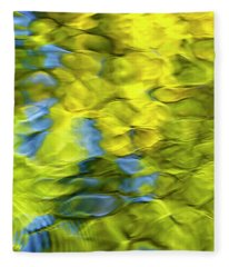 Sea Breeze Mosaic Abstract Fleece Blanket
