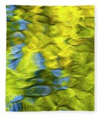 Sea Breeze Mosaic Abstract Fleece Blanket