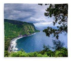 Sea Cliffs Fleece Blanket