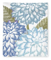 Sea Dahlias I Fleece Blanket