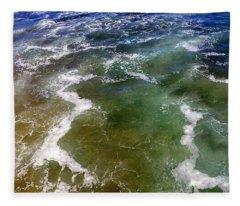 Sea Foam 1 Fleece Blanket