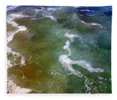 Sea Foam 2 Fleece Blanket