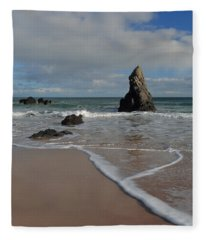 Sea Foam On Sango Bay Fleece Blanket