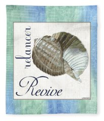 Sea Glass 4 Fleece Blanket