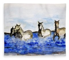 Sea Horses Fleece Blanket