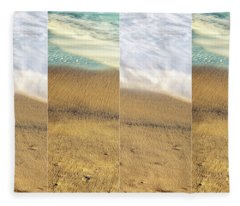 Sea Meets Sand #2 Fleece Blanket