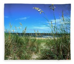 Sea Oat Dunes 11d Fleece Blanket