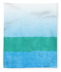 Sea Of Blues Fleece Blanket