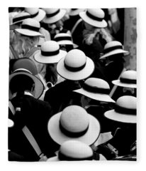 Sea Of Hats Fleece Blanket