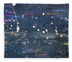 Fleece Blanket featuring the painting Sea Of Love by Michael Lucarelli