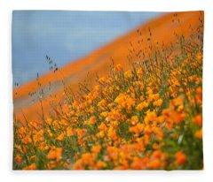 Sea Of Poppies Fleece Blanket
