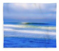 Sea Rolling In Fleece Blanket