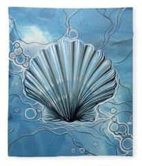 Sea Scalop Fleece Blanket