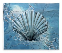 Sea Scalop Fleece Blanket