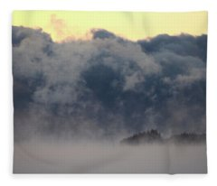 Sea Smoke At Owls Head Detail Fleece Blanket
