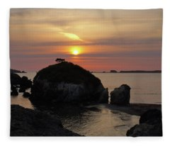 Sea Stack Sunset Fleece Blanket