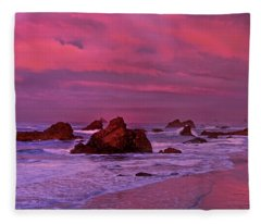 Sea Stacks Harris State Beach Oregon Fleece Blanket