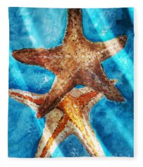Sea Stars Fleece Blanket