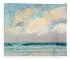 Sea Study - Morning Fleece Blanket