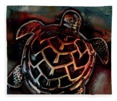 Sea Turtle 001 Fleece Blanket