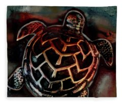 Sea Turtle 001 Fleece Blanket