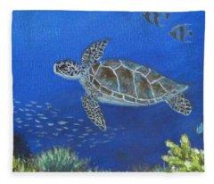 Sea Turtle 2 Fleece Blanket