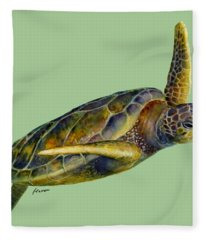 Sea Turtle 2 Fleece Blanket