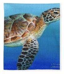 Sea Turtle 2 Of 3 Fleece Blanket