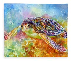 Sea Turtle 3 Fleece Blanket