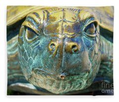 Sea Turtle Statue Gulf Shores Al 1590a Fleece Blanket