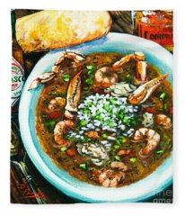 Seafood Gumbo Fleece Blanket