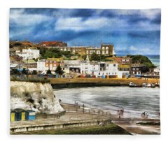 Seafront Broadstairs Kent Fleece Blanket