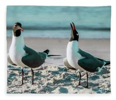 Seagull Serenade 4954 Fleece Blanket