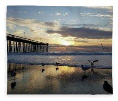 Seagulls And Salty Air Fleece Blanket