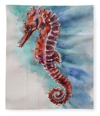 Seahorse 2 Fleece Blanket