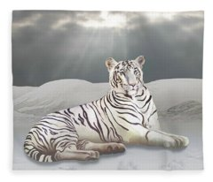 Search For The White Tiger Fleece Blanket