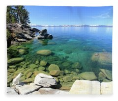 Search Her Depths Fleece Blanket