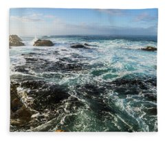 Seas Of The Wild West Coast Of Tasmania Fleece Blanket