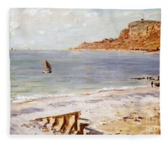 Seascape At Sainte Adresse  Fleece Blanket