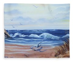 Seascape Fleece Blanket
