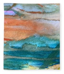 Seascape I Fleece Blanket