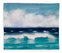 Seascape In Summer Fleece Blanket