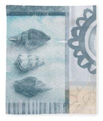 Seashells 2 Fleece Blanket