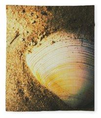 Seashells And Beach Colours Fleece Blanket